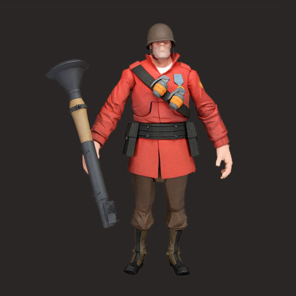 定制游戏红色士兵雕像