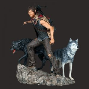 树脂Daryl Wolves 雕像