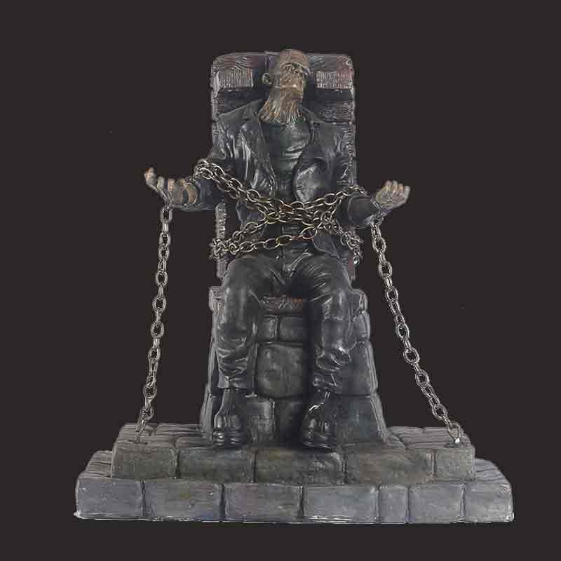 铁锁恐怖僵尸树脂雕像