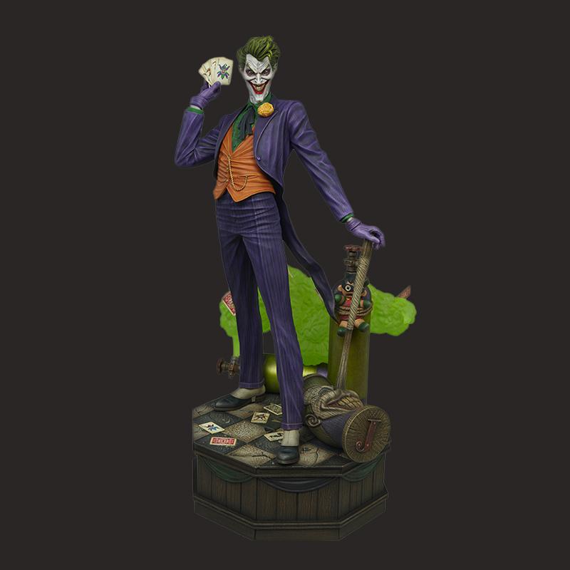 定制影视扑克小丑树脂雕像